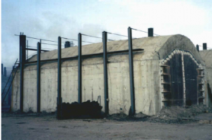 charcoal production in a Missouri kiln